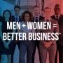 Artwork for #1 Introducing Men + Women = Better Business and Cohosts Leslie Grygiel & Kevin Bronson