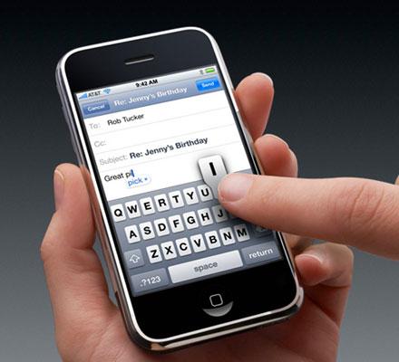 Comprobado: con el iPhone se escribe más despacio