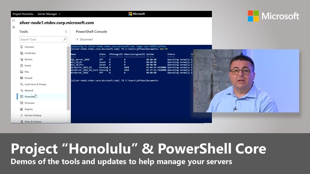 "Artwork for Updates to server management with Project ""Honolulu"" and PowerShell Core"