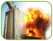 Accumulation de poussières, combustibles et explosions