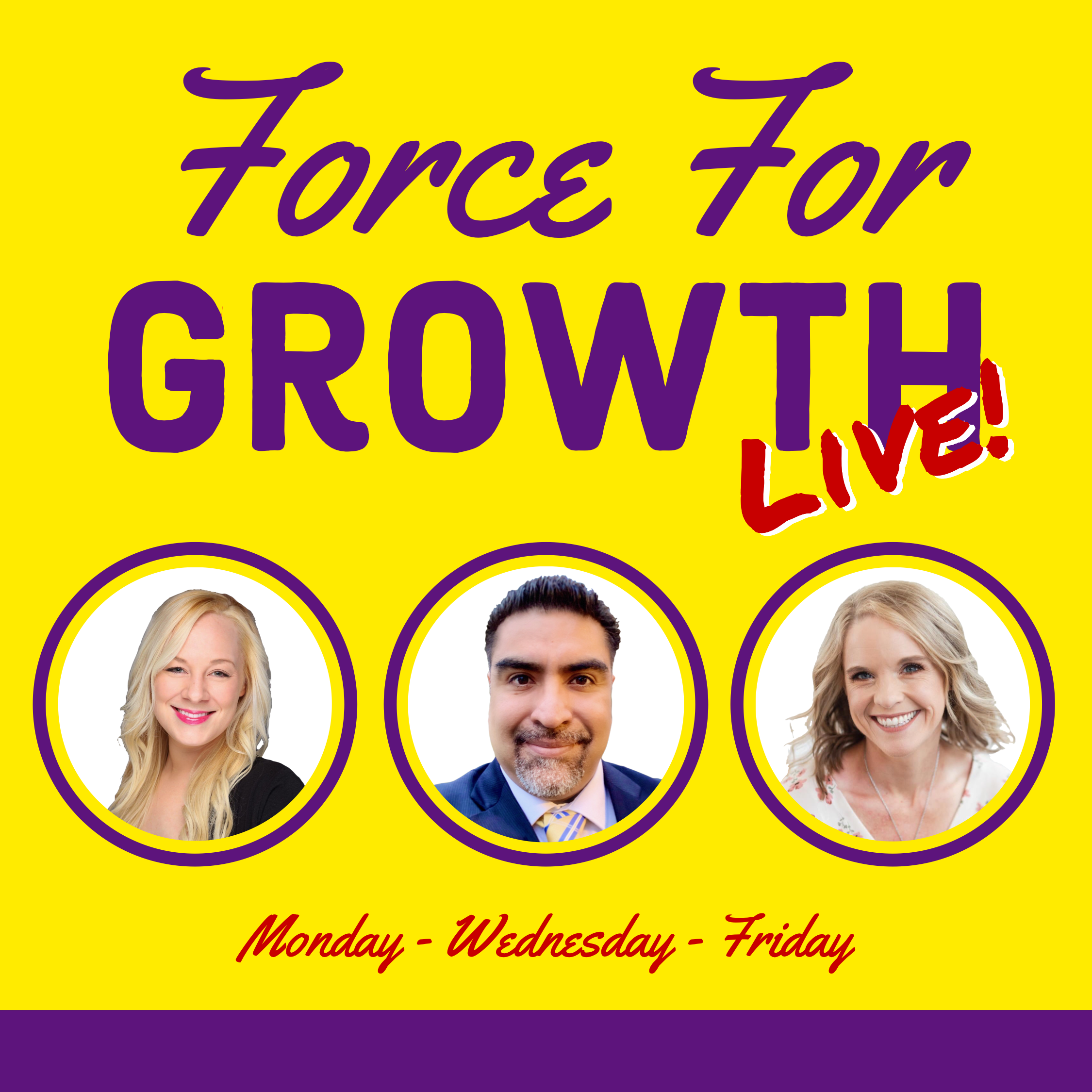 Force For Growth Live show art