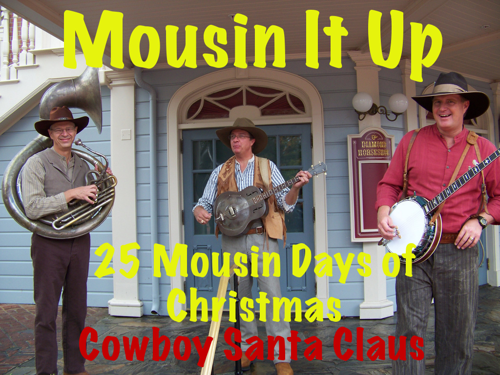 25 Mousin Days of Christmas -  Day 7 Cowboy Santa Claus
