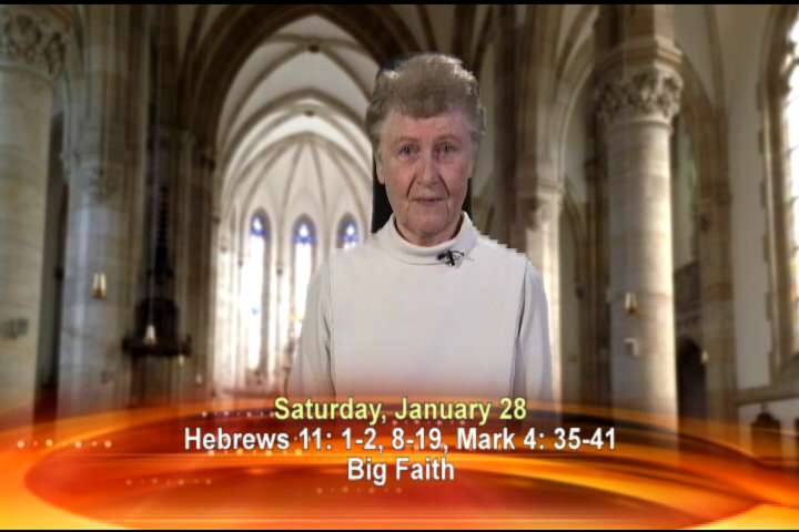 Artwork for Saturday, January 28, 2017  Today's topic: Big Faith