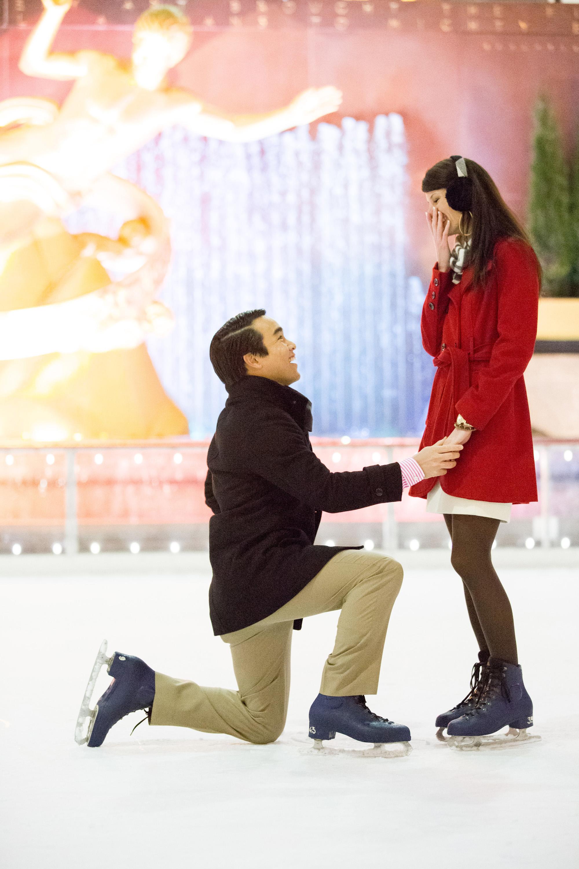 Engagement Shoot at Rockefeller Center