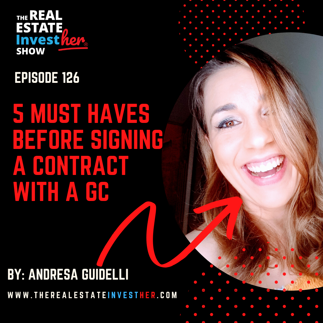 Artwork for EP 126: (MINISODE) 5 Must Haves Before Signing a Contract with a GC