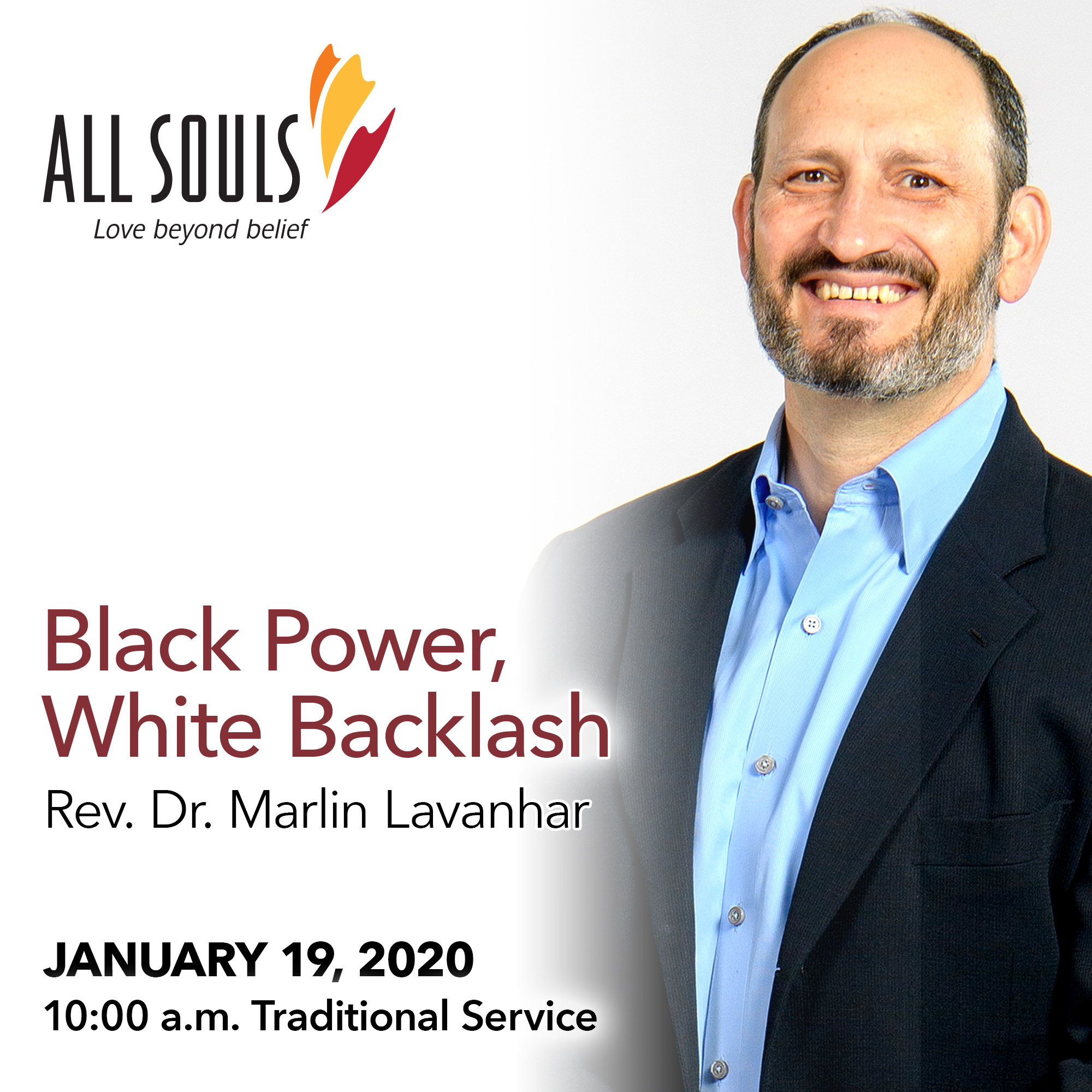 'BLACK POWER, WHITE BACKLASH' - A sermon by Rev. Dr. Marlin Lavanhar (Traditional Service) show art