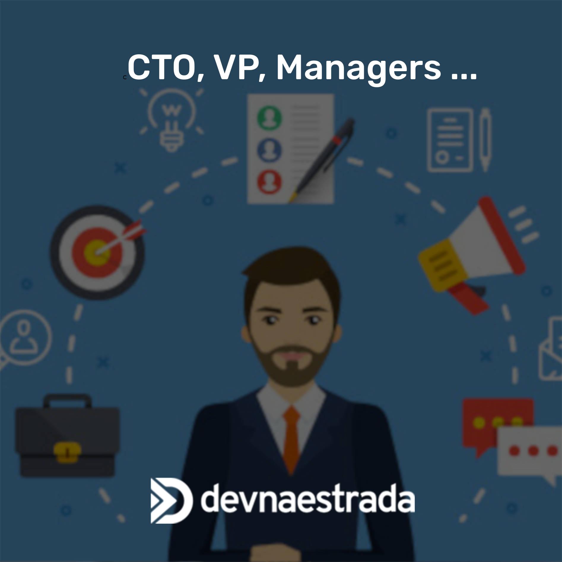 CTO, VP, Managers, quem são?