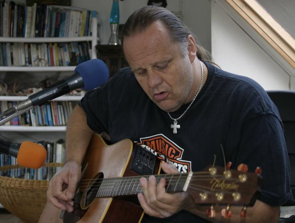 Walter Trout in session - Unplugged