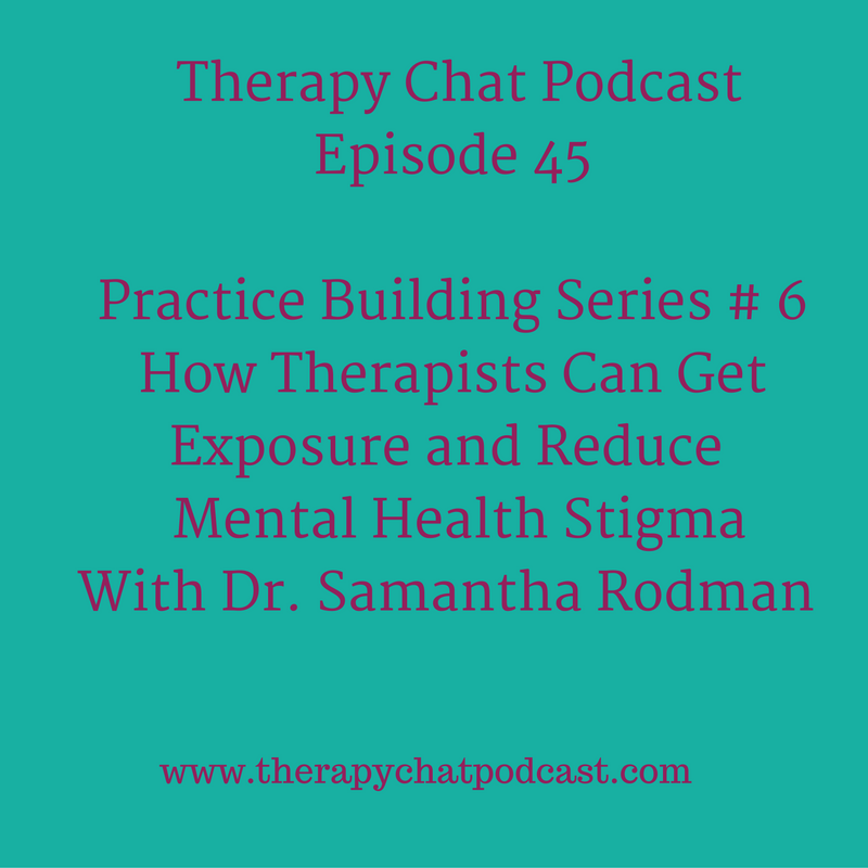 Therapy Chat 45 Blogging To Reduce Mental Health Stigma