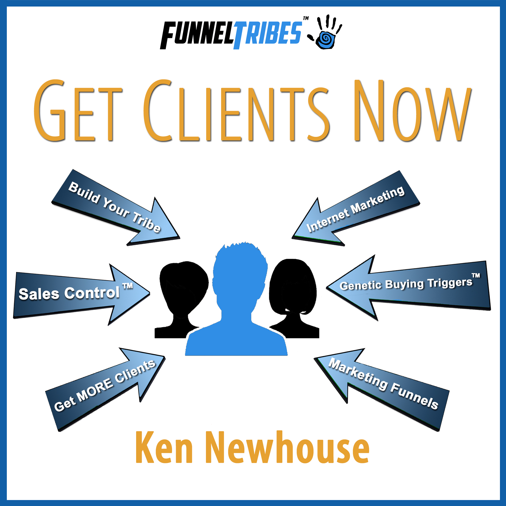 Artwork for 043: Sales Control™ - The NEW Methodology You Can Use To Ethically Persuade Anyone ... Especially Your Most Resistant Prospect | Ken Newhouse - FunnelTribes.com - Online Marketing & Funnels - Covert Persuasion - Genetic Buying Triggers