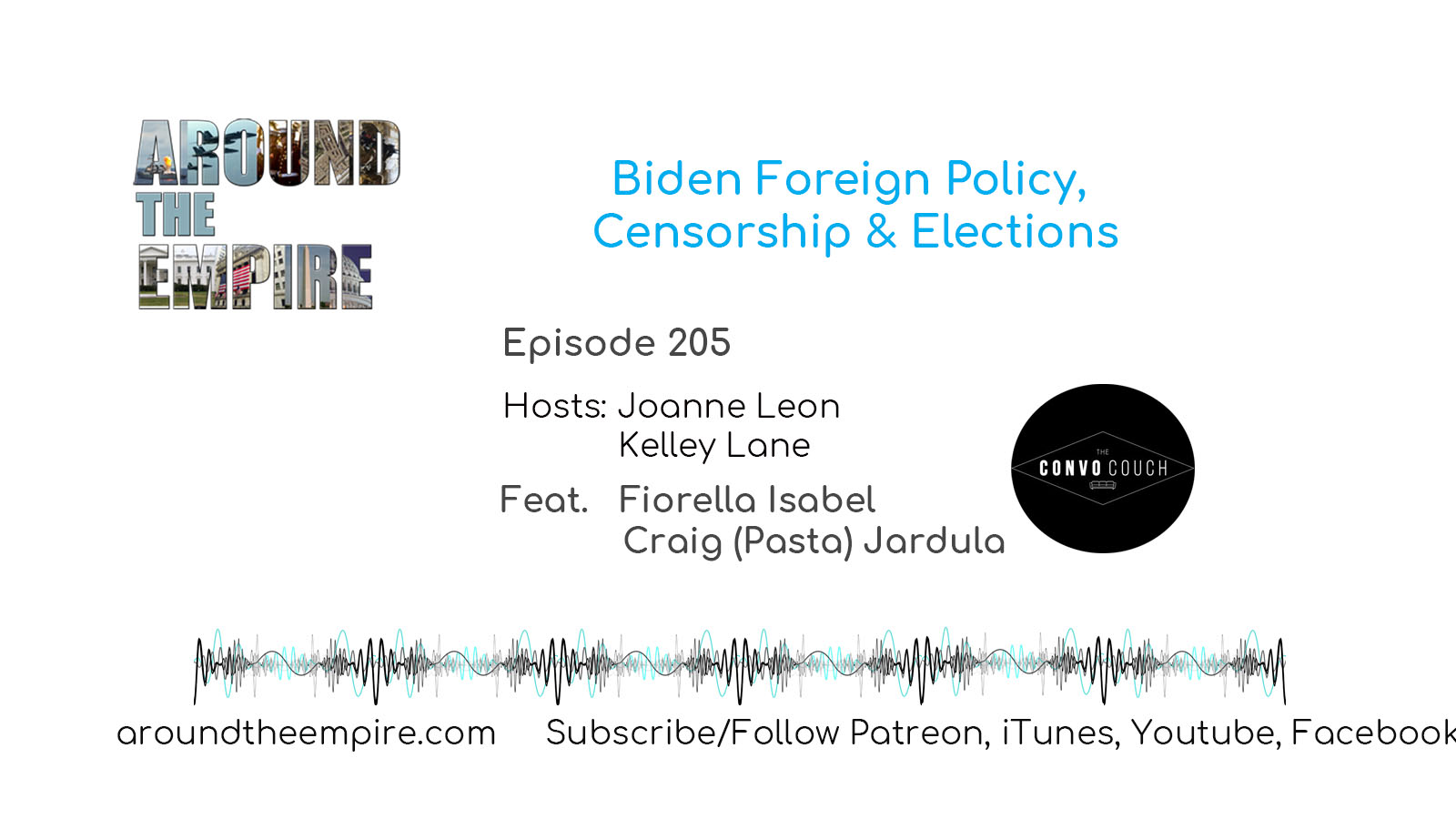 Ep 205 Biden Foreign Policy, Censorship & Elections feat Convo