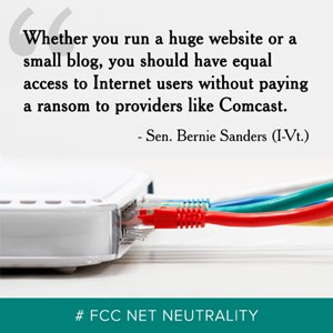 (2014/06/12) Speak up on the future of the Internet (Net Neutrality)