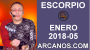 Artwork for ESCORPIO ENERO 2018-05-28 Ene al 03 Feb 2018-Amor Solteros Parejas Dinero Trabajo-ARCANOS.COM