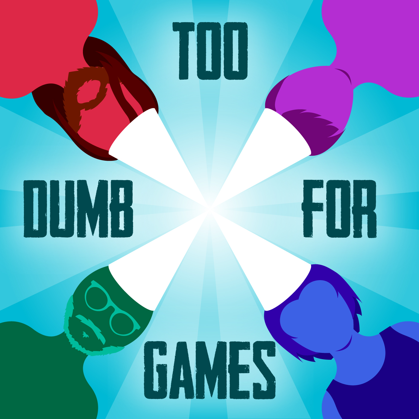 Too Dumb for Games logo