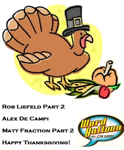 ep 376 Giving Thanks With Rob Liefeld Matt Fraction and Alex De Campi