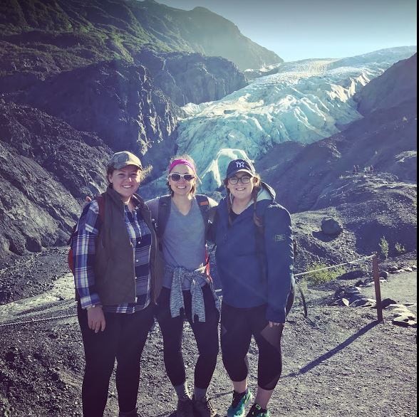 Alisa, her sister Kathleen, and I on a recent trip to Alaska