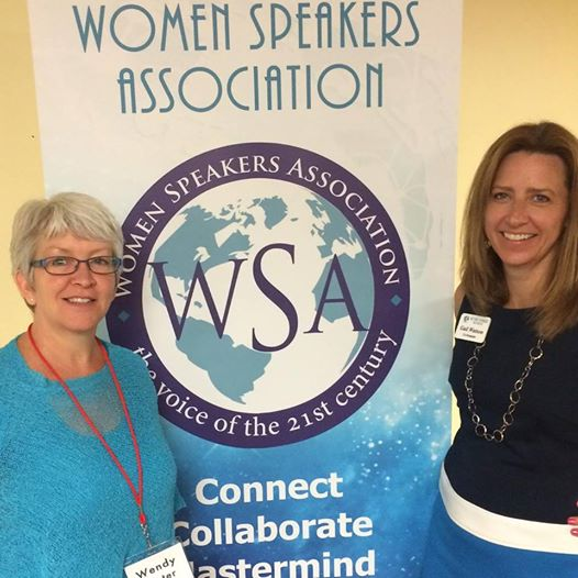 attending a Women's Speakers Association Conference