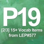 Artwork for P19 [2/3] 15+ Vocab Items from LEP#577. (UK vs US Slang Game with Jennifer)