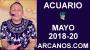 Artwork for ACUARIO MAYO 2018-20-13 al 19 May 2018-Amor Solteros Parejas Dinero Trabajo-ARCANOS.COM