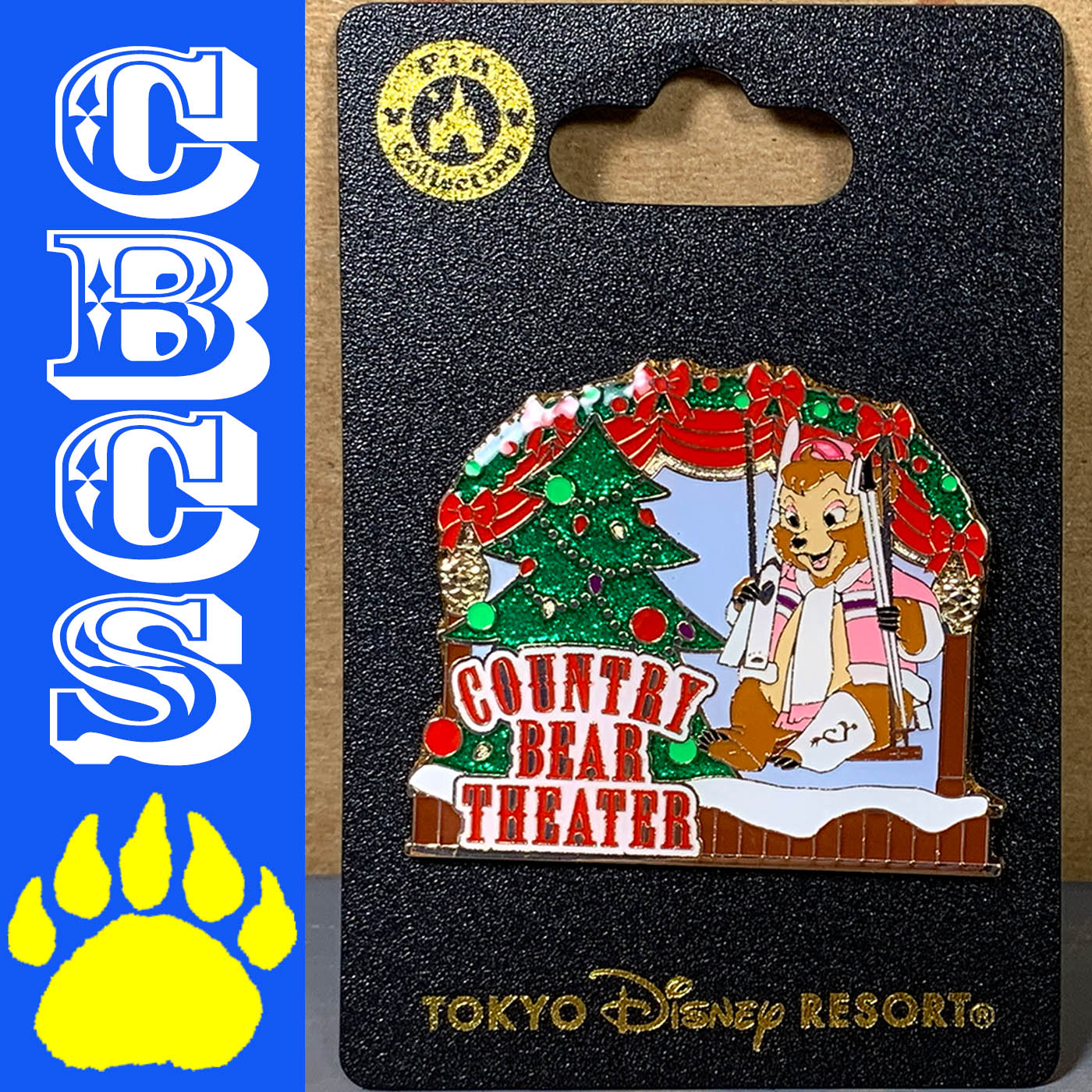 Artwork for 2018 Tokyo Disneyland Country Bear Theatre Christmas Pin - Country Bear Collector Show #184