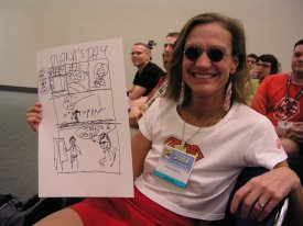 Dealing at the SDCC with Dark Horse Editor  Diana Schutz