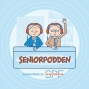 Artwork for Seniorpodden del 34 med Marie-Louise Lindqvist och Jonas Abrahamnsson, om deras skrivande och författardrömmar.