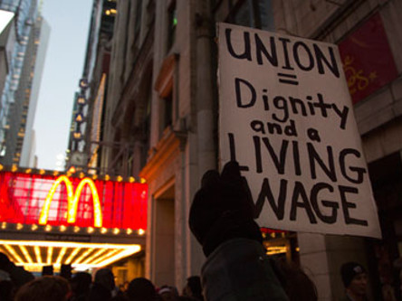 Round Two: Fast Food Strike for $15 An Hour