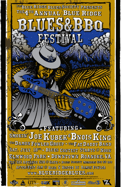 The BluzNdaBlood Show #76, Blue Ridge Blues & BBQ Festival Preview Podcast