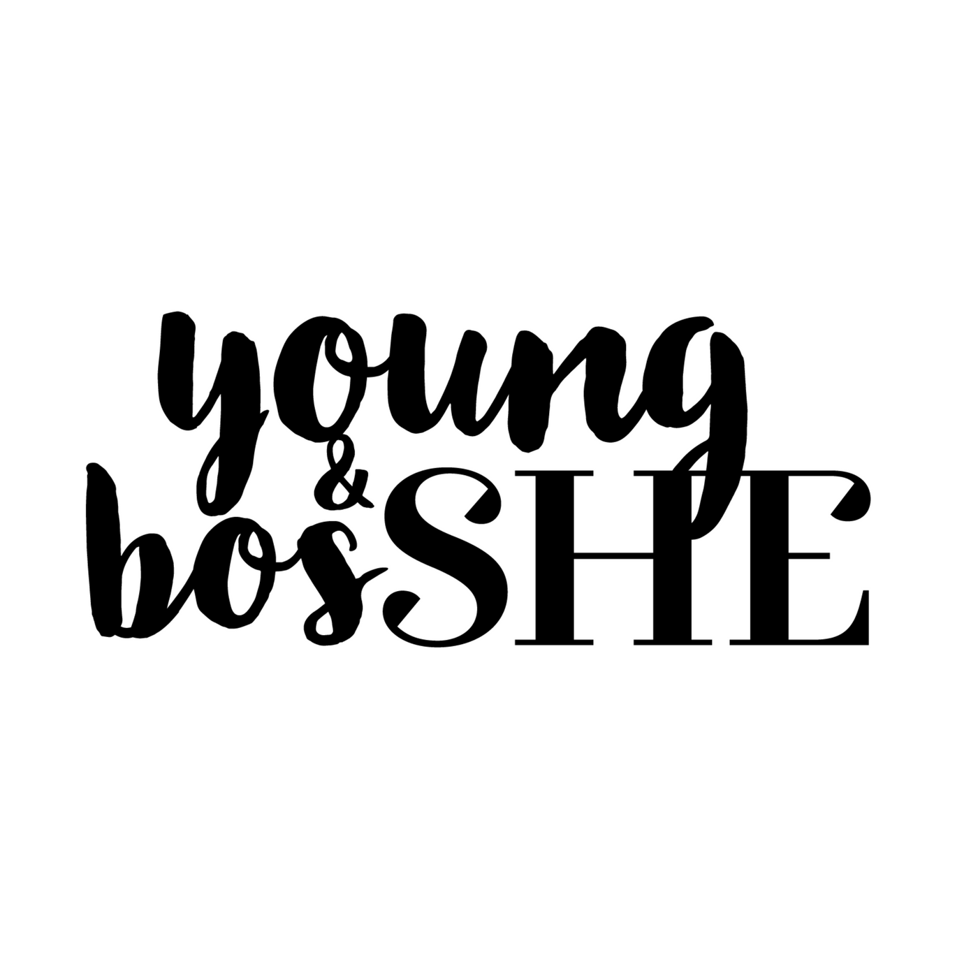 SHESpeaks, the Young&BosSHE podcast show art