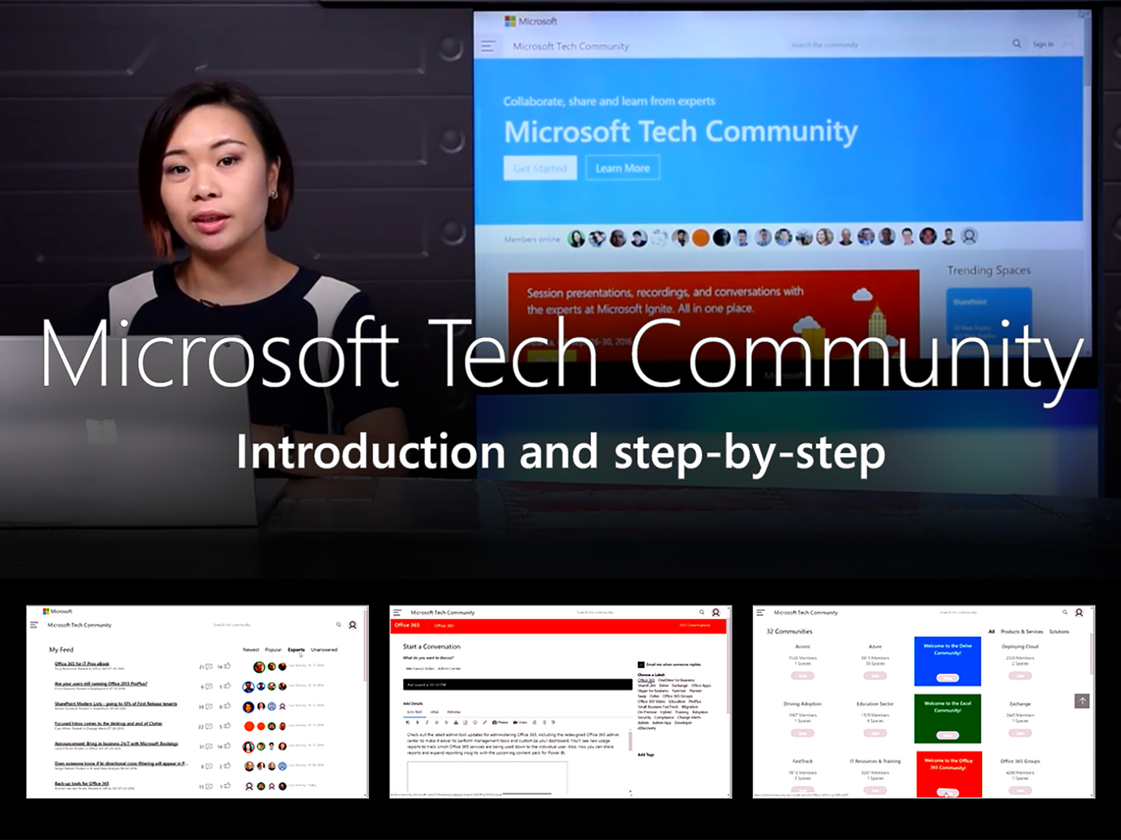 Artwork for Microsoft Tech Community - Step-by-step introduction