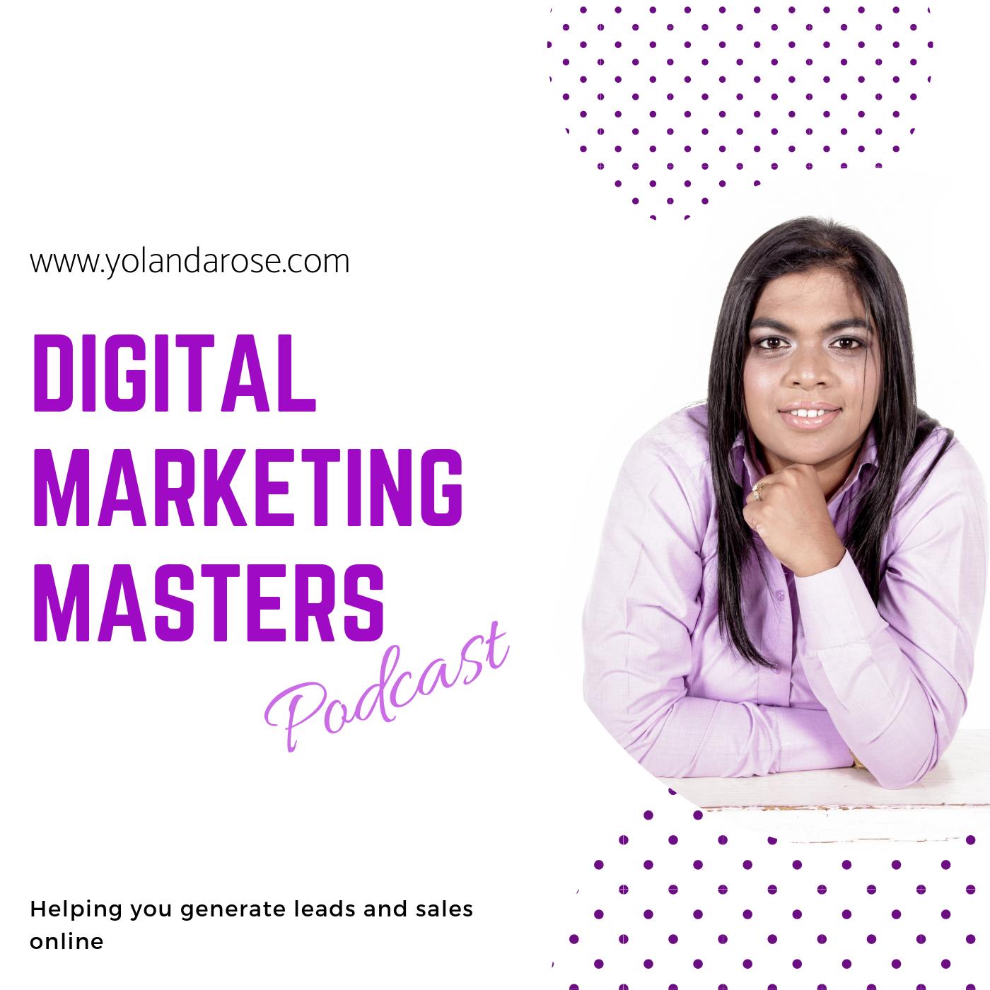 Digital Marketing Masters Podcast show art