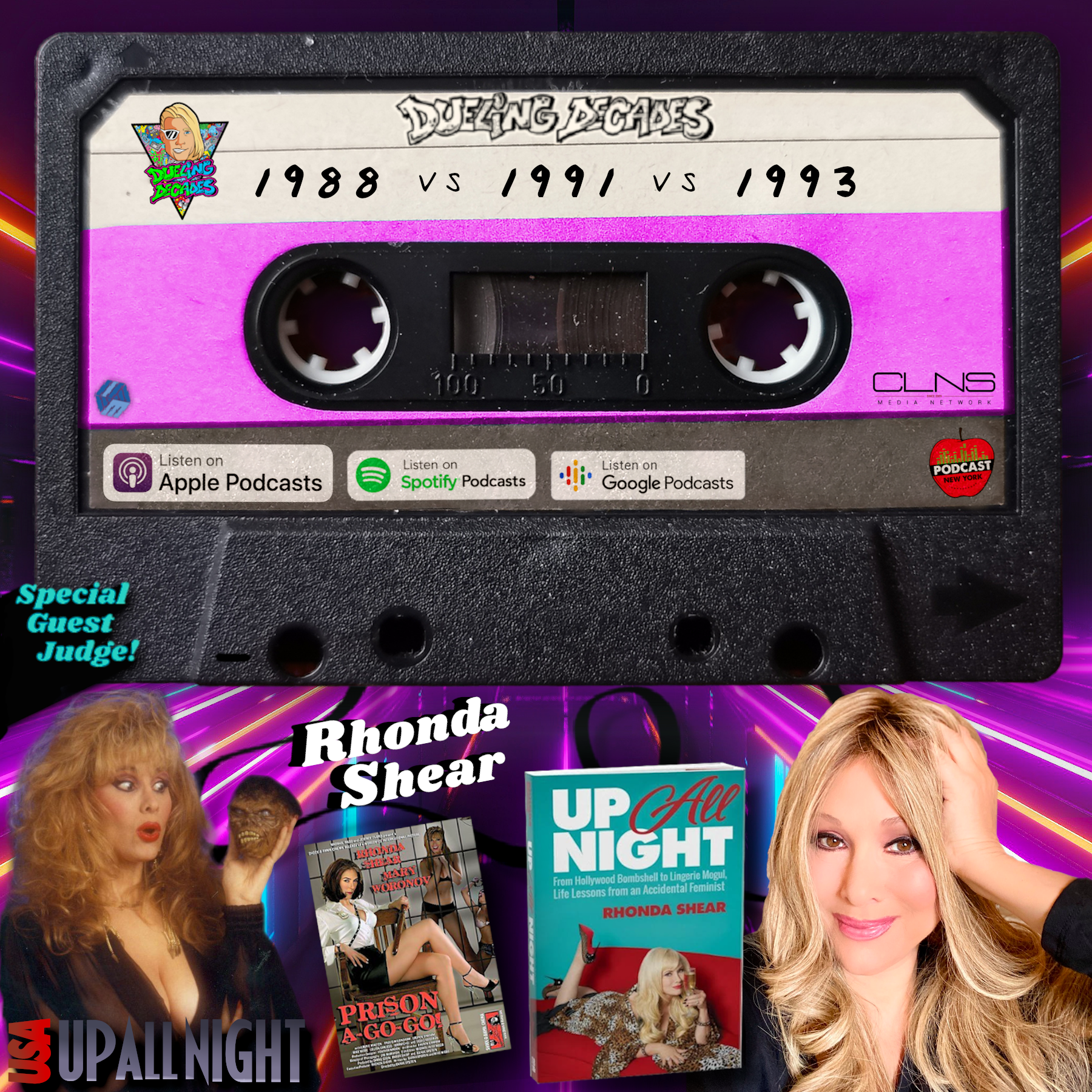 "The Dueling Decades' crew stays ""Up All Night"" w/special guest judge Rhonda Shear in this B-movie battle between 88, 91 & 93!"