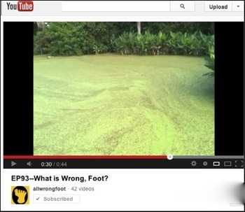 YouTube promo for Show 93, 'What is Wrong, Foot?'
