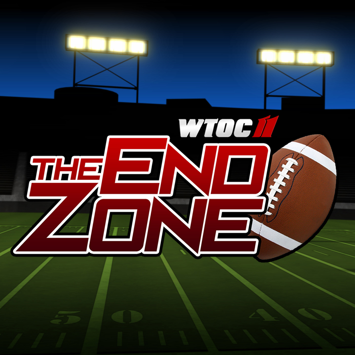 WTOC's The End Zone show art