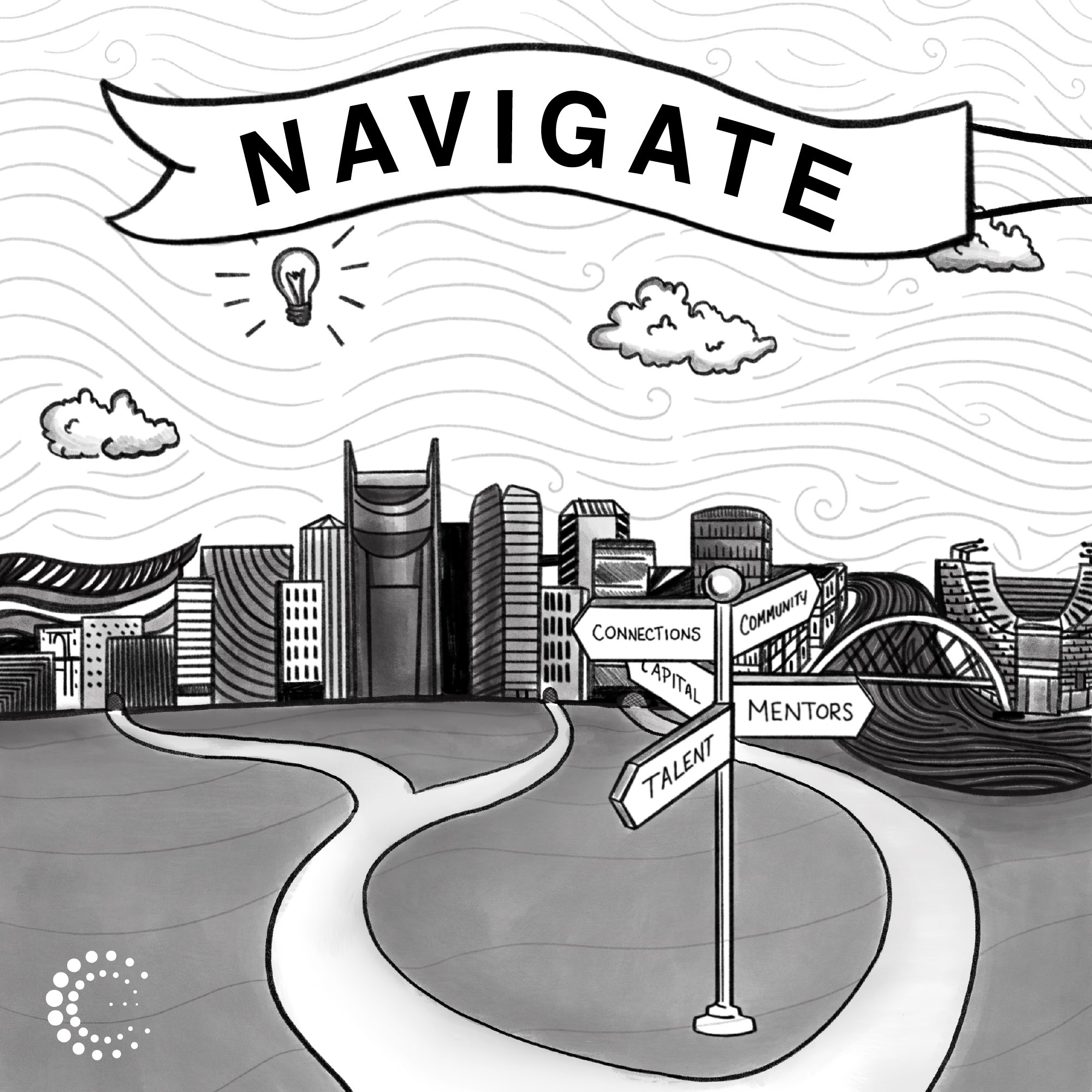 Navigate: Nashville's Entrepreneur Ecosystem show art