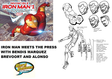 Marvel's Iron Man Press Conference With Brian Bendis David Marquez Tom Brevoort and Axel Alonso