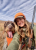 Danielle Prewett and her dogs show art