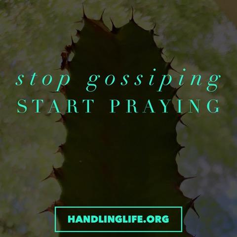 Artwork for Stop Gossiping, Start Praying