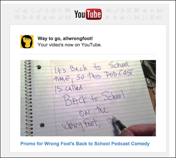 Youtube Promo for Wrong Foot's 114 Back to School Podcast