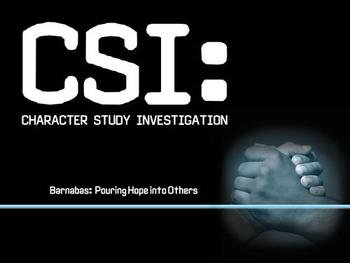 CSI: Barnabas: Pouring Hope Into Others