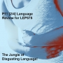 Artwork for P11 [2/4] Language Review for LEP575 The Jungle of Disgusting Language