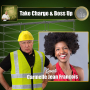 Artwork for Take Charge and Boss Up. Carmelle Jean-Francois