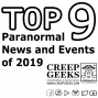 Artwork for Top 9 Paranormal News and Events of 2019 #9 Momo, Small Town Monsters, Hellier2 and Paranormal TV.