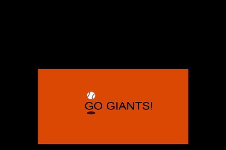 "Artwork for ""GO GIANTS GO!"" new song and follow-the-bouncing-ball graphic, SING ALONG!"