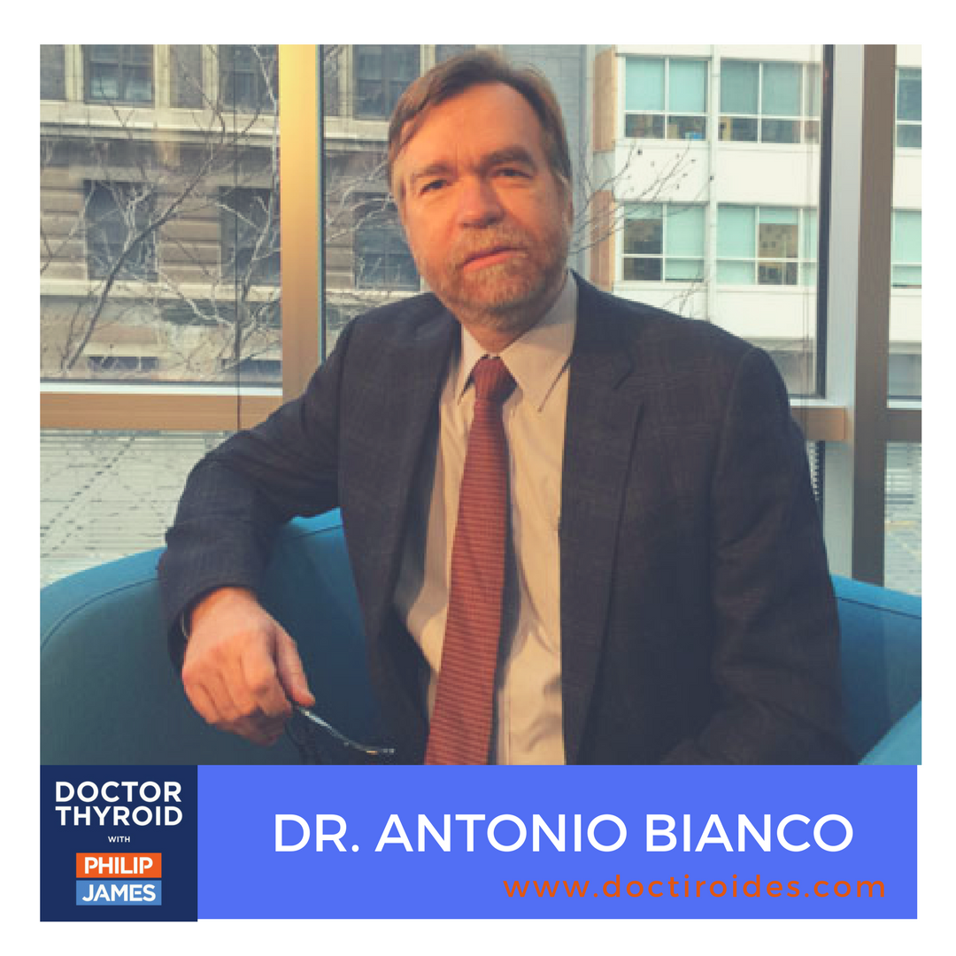 Artwork for 75: Fat, Foggy, and Depressed After Thyroidectomy?  You May Benefit From T3, with Dr. Antonio Bianco from Rush University