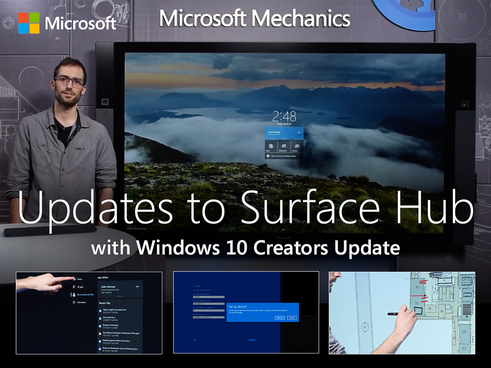 Artwork for Updates to Microsoft Surface Hub with Windows 10 Creators Update