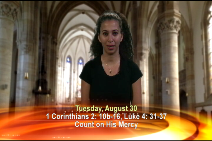 Artwork for Tuesday, August 30, 2016 Today's Topic: Count on His mercy