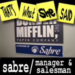 "Episode # 88 -- ""Sabre/ Manager & Salesman"" (2/4 - 2/11/10)"