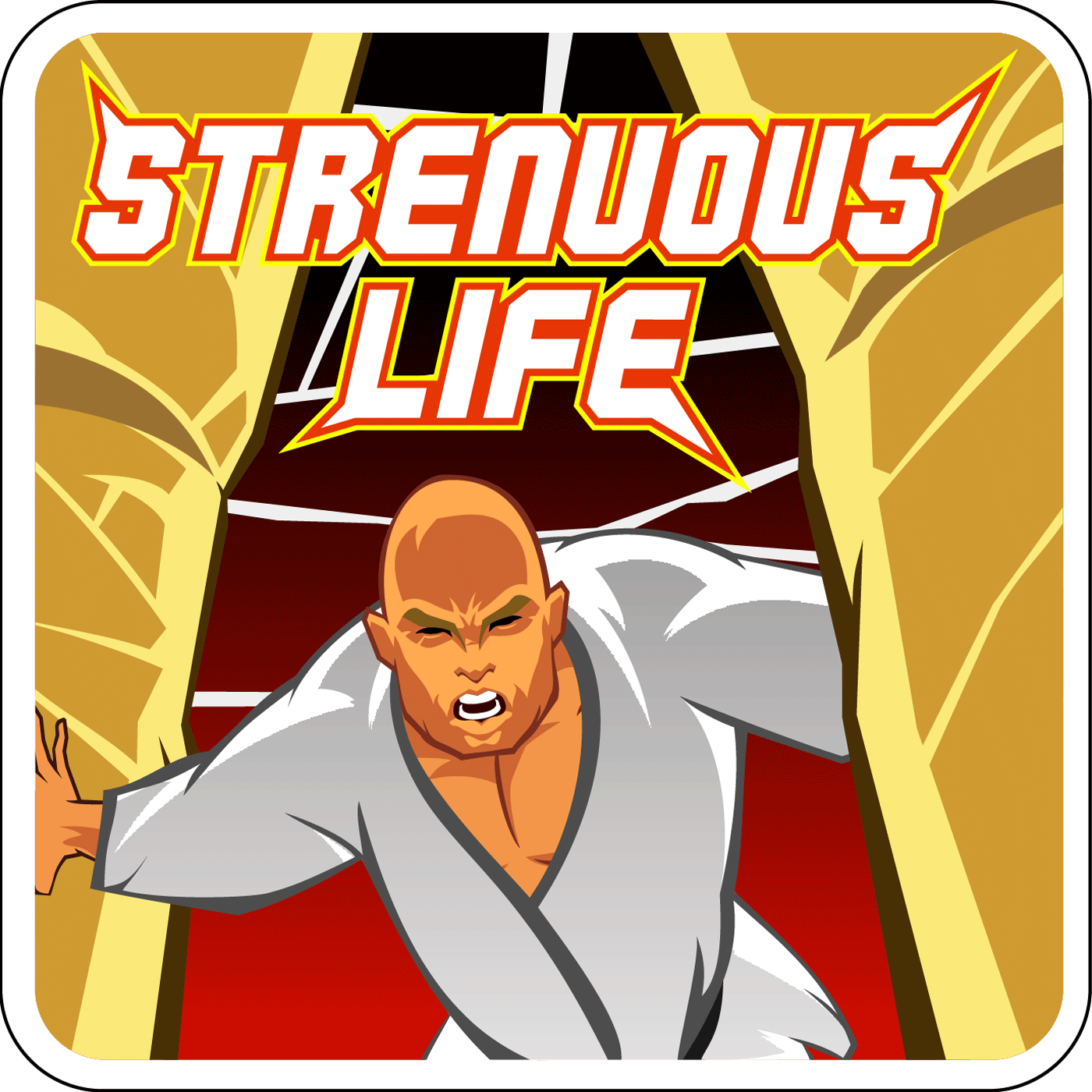 The Strenuous Life Podcast with Stephan Kesting show art