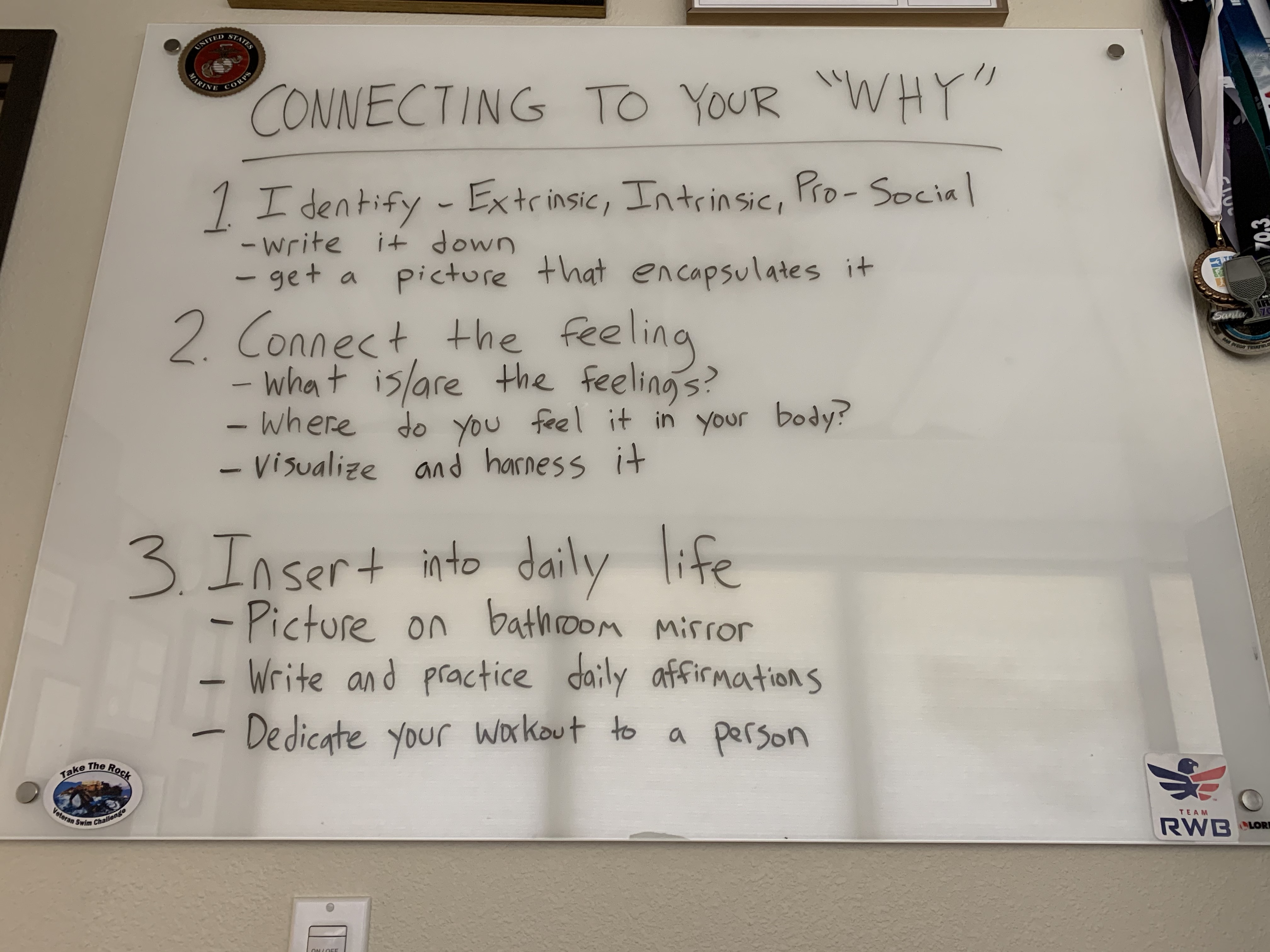 Connect to Your Why chart